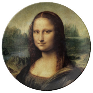 La Gioconda de Mona Lisa de Leonardo da Vinci Platos De Cerámica
