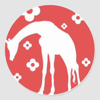 La Giraffe Classic Round Sticker