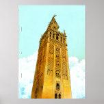 La Giralda de Sevilla - fondo del Don Quijote Poster