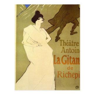La Gitane de Rechepin por Toulouse-Lautrec Postales