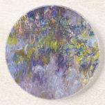 La glicinia (dejada) por Claudet Monet, vintage Posavaso Para Bebida