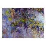 La glicinia (dejada) por Claudet Monet, vintage Tarjeta