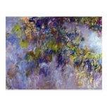 La glicinia (dejada) por Claudet Monet, vintage Postal