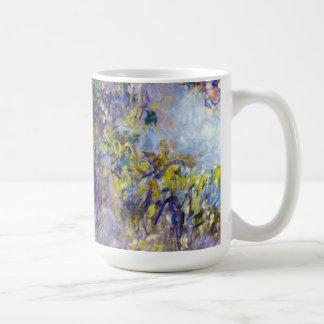 La glicinia (dejada) por Claudet Monet, vintage Taza Básica Blanca