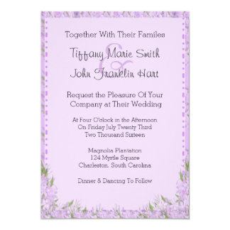 La glicinia florece la invitación del boda