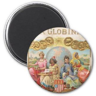 La Globina Cigar Label 2 Inch Round Magnet