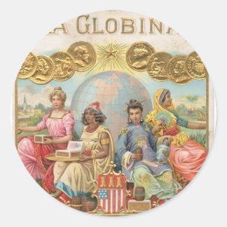 La Globina Cigar Label Round Stickers
