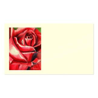 La gloria carmesí subió tarjetas de visita de Sach