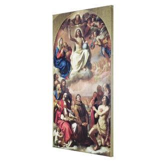 La gloria de los santos, 1645-47 impresiones de lienzo