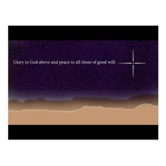 La gloria esté a dios y a la paz a todo el los de postales