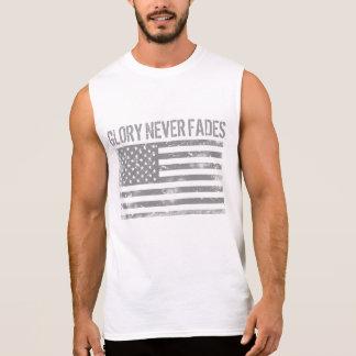 La gloria patriótica fresca nunca se descolora y playera sin mangas