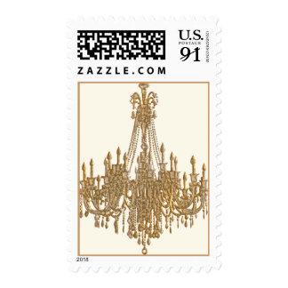 La Gold Chandelier Design by Paulette Kinney Postage