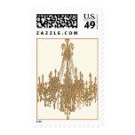 La Gold Chandelier Postage Stamps