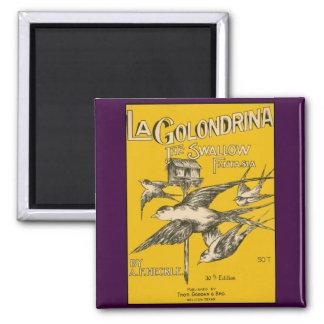 La Golondrina Swallow Fantasia - Vintage Music Magnet