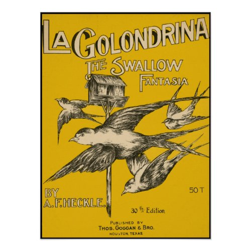 La Golondrina Swallow Fantasia - Vintage Music