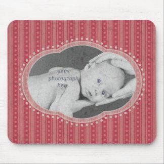 La golosina raya la foto Mousepad - rosa