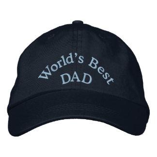 La gorra de béisbol bordada el mejor papá/el gorra