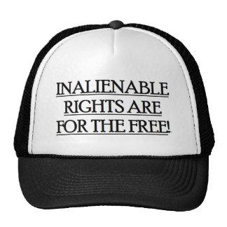 La gorra de béisbol con las DERECHAS INALIENABLES