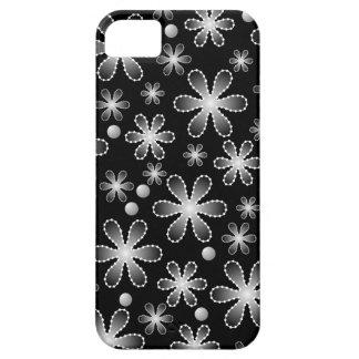 La gota blanco y negro florece la caja iPhone5 iPhone 5 Funda
