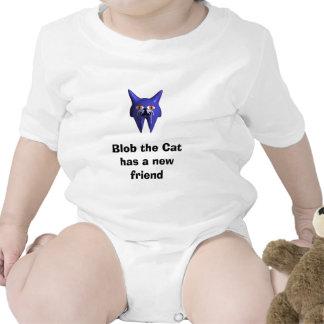 La gota el gato tiene un nuevo amigo traje de bebé
