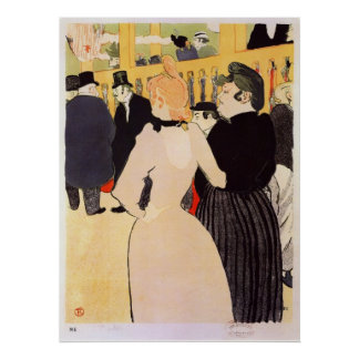 la Goulue and her sister by Toulouse-Lautrec Poster
