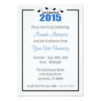 """La graduación 2015 del colegio de abogados invita invitación 5"""" x 7"""""""