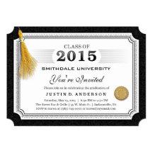 La graduación 2015 del diploma invita a esquinas invitación 12,7 x 17,8 cm