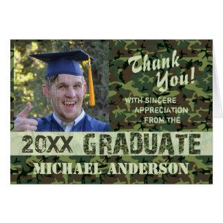 La graduación 2016 le agradece camuflar tarjeta de felicitación