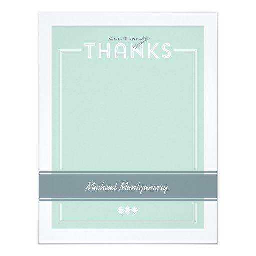La graduación adaptada le agradece tarjeta de nota invitación 10,8 x 13,9 cm
