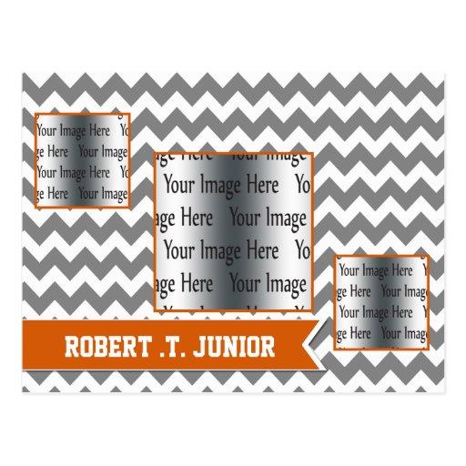la graduación anaranjada de la foto de las rayas 3 tarjetas postales