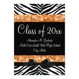 La graduación anaranjada del arco de la cebra del invitación