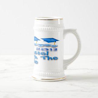 La graduación azul capsula a Stein Jarra De Cerveza