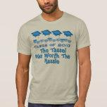 La graduación azul capsula el camisetas