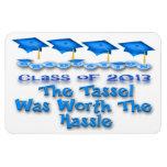 La graduación azul capsula los imanes flexibles