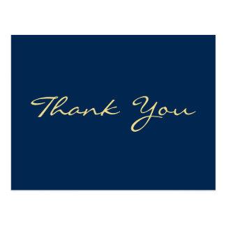 La graduación azul personalizada le agradece tarjetas postales