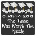 La graduación blanca capsula el reloj de pared