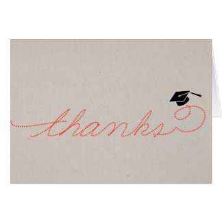 La graduación caprichosa le agradece: Rojo Tarjeta Pequeña