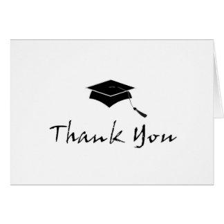 La graduación contemporánea le agradece las tarjet tarjeta pequeña