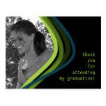 La graduación de encargo de la foto le agradece ca tarjeta postal