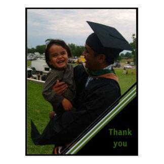La graduación de encargo le agradece cardar - el tarjeta postal