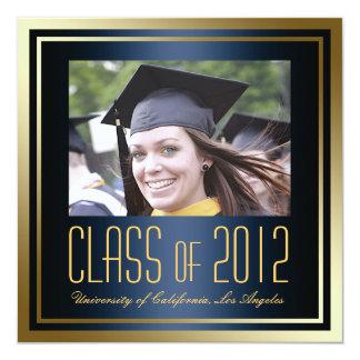 """La graduación de la clase de 2012, de la marina de invitación 5.25"""" x 5.25"""""""