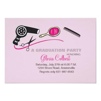 """La graduación de la escuela de la belleza del invitación 5"""" x 7"""""""