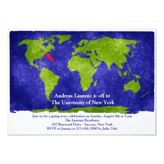 """La graduación de los estudios del mundo/el ir invitación 5"""" x 7"""""""