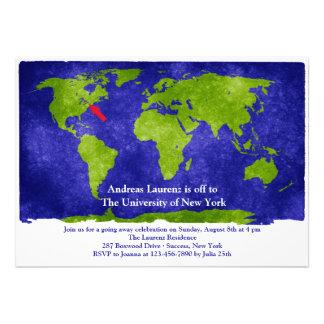 La graduación de los estudios del mundo/el ir lejo comunicados personales