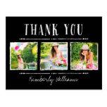 La graduación del collage de la foto le agradece l tarjeta postal