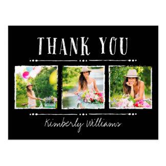 La graduación del collage de la foto le agradece tarjeta postal
