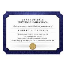La graduación del diploma de la frontera de 2015 invitación 12,7 x 17,8 cm