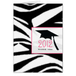 La graduación del estampado de zebra le agradece felicitaciones