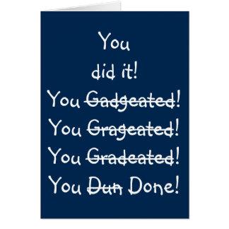 La graduación divertida de la diversión del humor tarjeta de felicitación