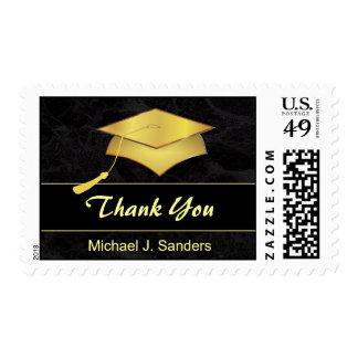 La graduación elegante le agradece franqueo estampillas